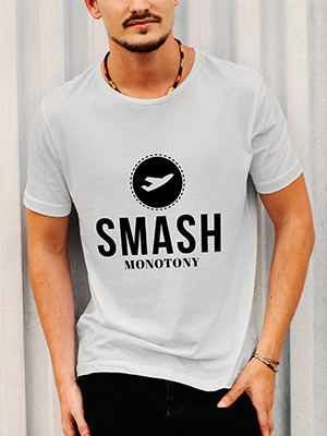 Smash Monotony Merchandise - White T-shirt
